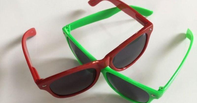 Coloured sunglasses